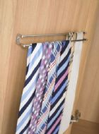 2-TIER TIE RACK (door mounted) 412mm wide CHROME finish (ECF FF61400)